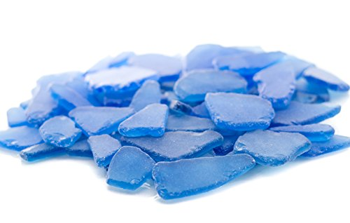Nautical Crush Trading Sea Glass | Dark Blue Colored Sea Glass Mix | 11 Ounces Of Sea Glass For Decoration And Craft | Plus Free Nautical Ebook By Joseph Rains
