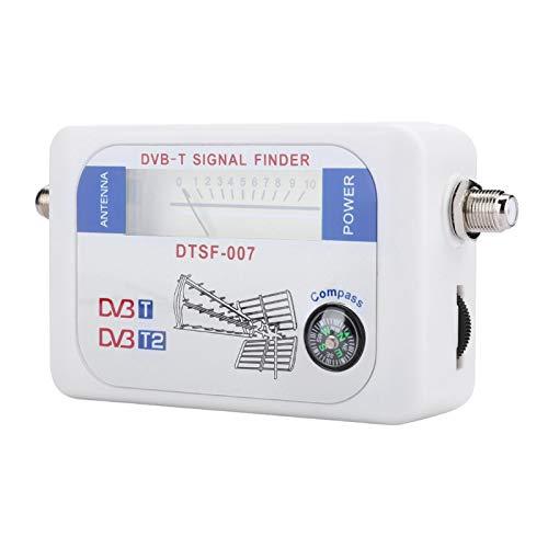 DAUERHAFT Buscador de satélite Digital de fácil Lectura Buscador de satélite de medición Digital Sensible con Capacidad HD, para TV, para Antena satelital remota