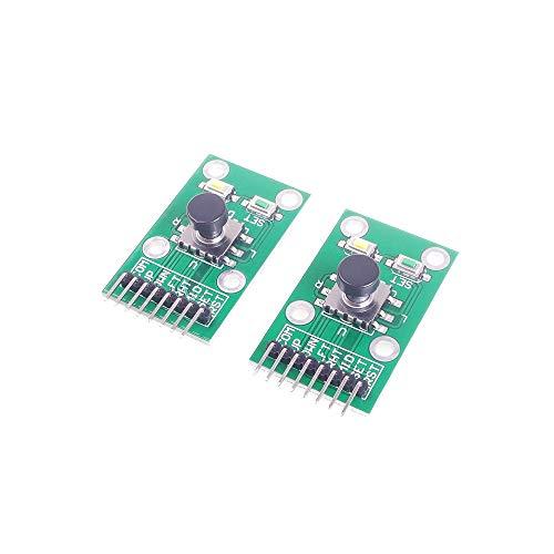 ANGEEK 2PCS Five Direction Navigation Button Module MCU AVR Game 5D Rocker Joystick Independent Keyboard for Arduino Joystick Module