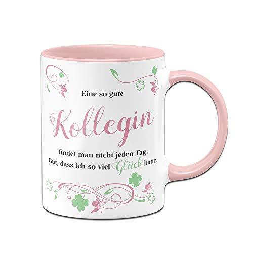Tasse mit Spruch Eine so Gute Kollegin findet Man Nicht jeden Tag - Bürotasse - Geschenk für Kollegin - Arbeitskollegin - rosa