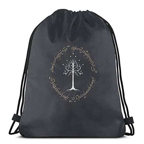 Tree of Golden Rings - Mochila con cordón para gimnasio, saco de hombro, para natación, senderismo, yoga