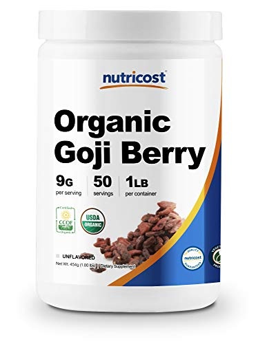 Nutricost Organic Goji Berry Powder (1lb) - USDA Certified Organic, Gluten Free, Non-GMO, Vegan