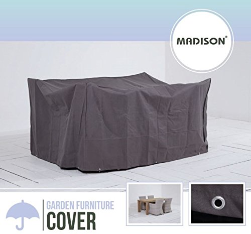 Madison atmungsaktive und Wasserabweisende Schutzhülle in anthrazit für Gartenmöbel oder Lounge Möbel, 225 x 140 x 95 cm,