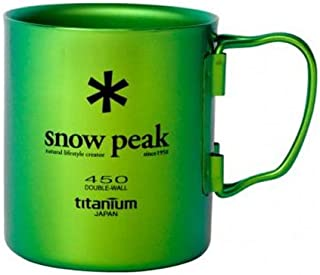 Snow Peak Titanium Double Wall 450 Mug Cookware 000 Green