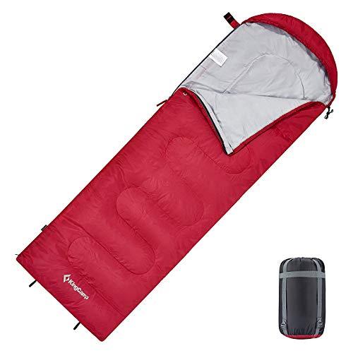 KingCamp Sacco a Pelo Bambino Singola 3 Stagione Compatto Portatile Invernale per Trekking Campeggio Alpinismo Leggero 165 x 70 cm