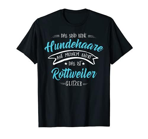 Rottweiler Hund Glitzer Design - Rottweiler Geschenk T-Shirt