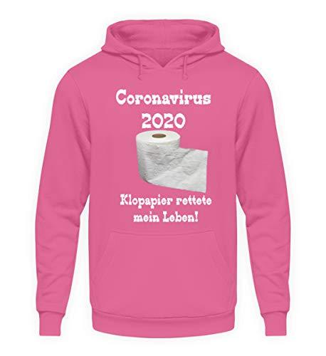Coronavirus 2020 - Papel higiénico salvaba mi vida. - Sudadera unisex con capucha. rosa claro S