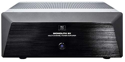 Monolith Multi-Channel Power Amplifier - Black with 5x200 Watt Per Channel, XLR Inputs for Home Theater & Studio