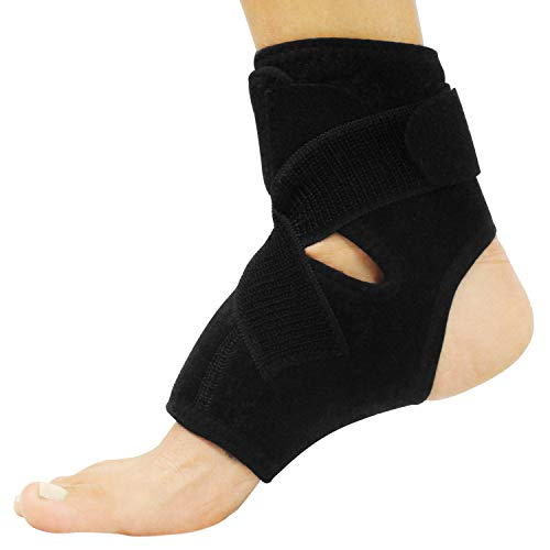 Vive Ankle and Foot Brace - Right and Left Support Wrap for Men and Women - Adjustable Sprained Feet Sleeve - Lightweight, Breathable Guard - Stabilizer for Running, Rolled Sprains, Swollen Tendonitis