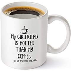 GREAT BOYFRIEND GIFT IDEA: Every man will enjoy taking sips of coffee, tea or chocolate from this mug. Gift the tea mug to your coffee loving boyfriend on Valentine's Day, birthdays, Christmas, & other occasions. IRRESISTIBLE DOUBLE SIDED PRINTED CUP...