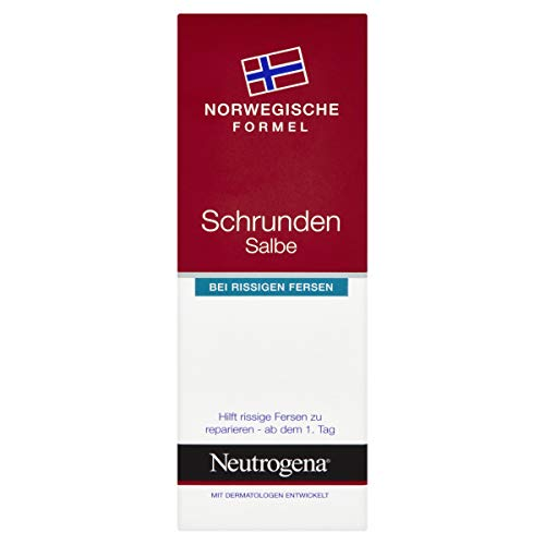 Neutrogena Norwegische Formel Fußpflege, Schrunden Salbe bei rissigen Fersen, 50ml