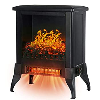 KINGSO Electric Fireplace Heater 18 Inch Fireplace Heater with 3D Realistic Flame Effect Indoor Electric Stove Heater CSA Certified Overheating Safety Protection  Portable 1400W