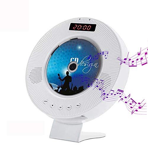 Lhlbgdz Reproductor de DVD portátil, Reproductor de CD montado en la Pared Sonido Envolvente DVD Radio FM Bluetooth USB Disco MP3 Reproductor de música portátil Control Remoto con Pantalla LED