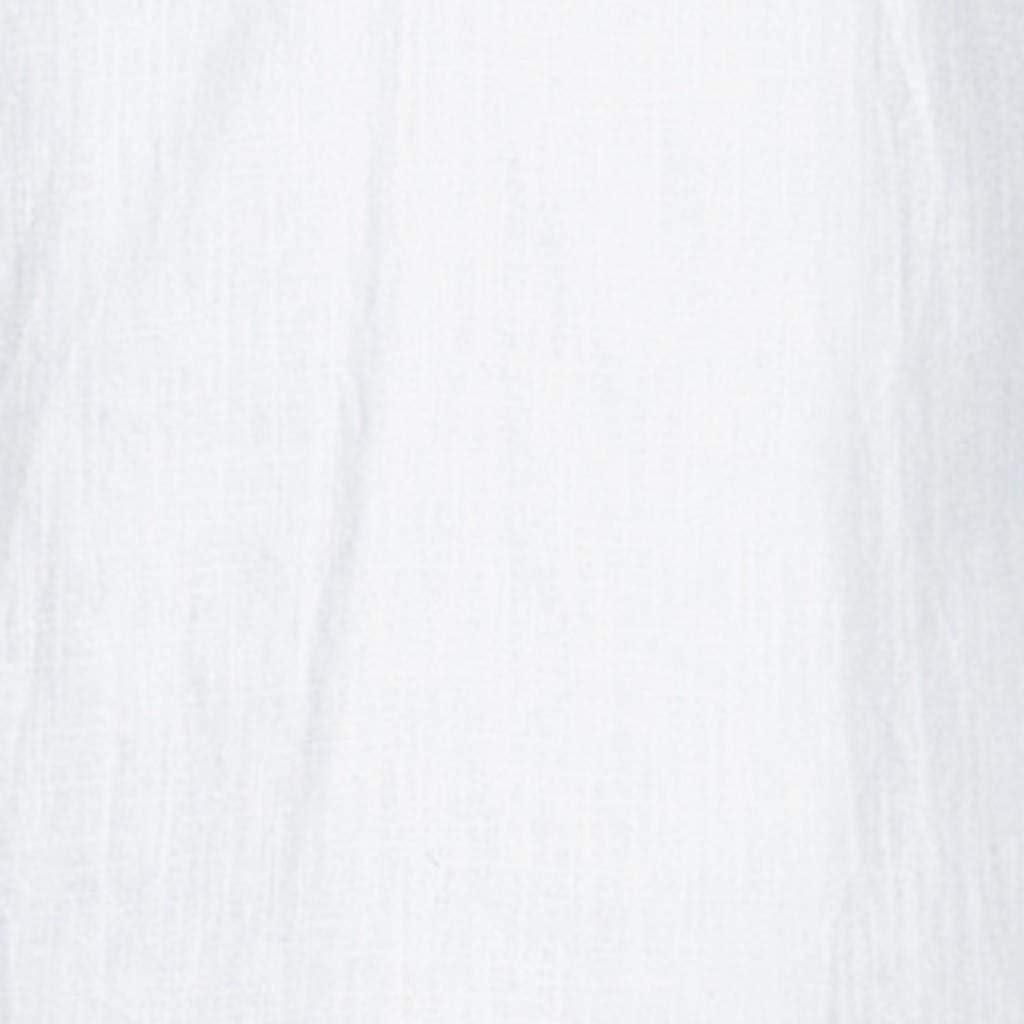 MODOQO Men's Shirt-Big and Tall Casual Cotton Linen Short Sleeve Loose Fit Tees