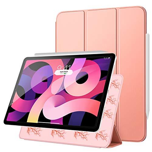 """MoKo Magnetische Smart Folio Hülle Kompatibel mit iPad Air 4. Generation 2020 Neu iPad 10.9 Zoll2020/iPad Pro 11\"""" 2018, [Unterstützt Apple Pencil 2] Laden Ständer Auto Schlaf/Wach, Rose Gold"""