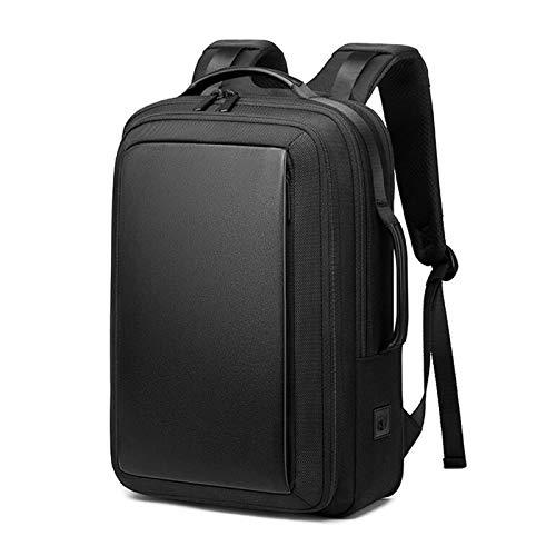 Jcnfa- Multifuncional negocio 15.6 pulgadas bolsa de computadora, mochila, impermeable y gran capacidad, expansión tridimensional 35L, puerto de carga USB ( Color : Black , Size : 12.20*6.29*16.92in )