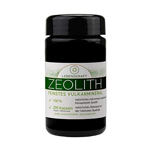 Lebenskraft Zeolith Kapseln 200er Glas, Klinoptilolith aus europäischem Vulkangestein, ultrafein, mikronisiert, aktiviert
