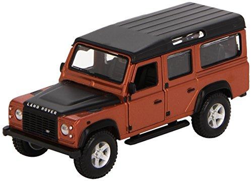 Bburago - 2043157 - Véhicule Miniature - Modèle À L'échelle - Land Rover Defender 110 - Gris Métallisé - Echelle 1/32