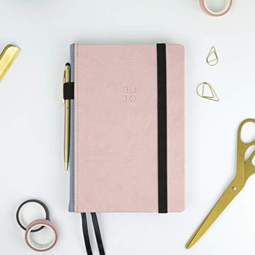 Bullet Journal - BUJO Colors Pink - Takenote 238 A5 Cuaderno de Tapa Dura Polipiel - Papel Grueso Premium (Pink)