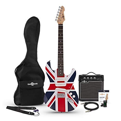 Chitarra Elettrica LA + Pacchetto con Amplificatore Union Jack