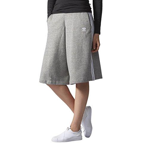 adidas Originals Women 3-Stripe Short Culotte Pants (XS (US 2))