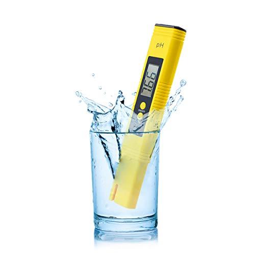 RUIZHI Medidor pH Medidor de PH Digital,Prueba de Calidad del Agua 0-14 pH,Medidor Digital de salinidad para Piscinas de Agua Salada y Peces.