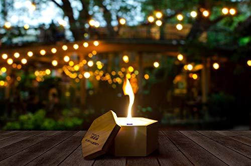 Beton-Outdoor-Kerze ✓100% Sojawachs ✓ Unendliche Brenndauer ✓ 14,5cm x 17cm x 9cm ✓ Nachhaltig ✓ Recycling von altem Kerzenwachs