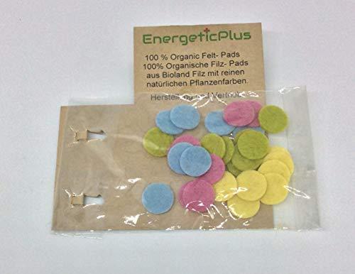 28x Naturfilz-Pads für Duft-Medaillons, Bio-Filz in 4 vers. Farben, Ersatz für Aroma-Diffusor (Pastell,12mm)
