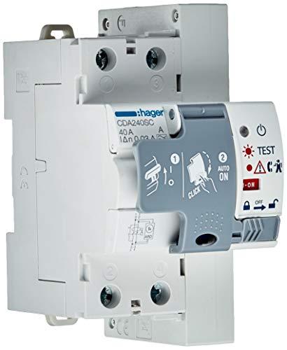 Hager tipo a - Interruptor diferencial con reconexión automático 2 polos 40a 30ma
