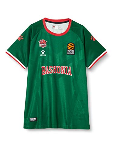Baskonia Equipación 2ª Camiseta Prepartido Shooting 20/21, Unisex niños, Verde, 12 (Años)