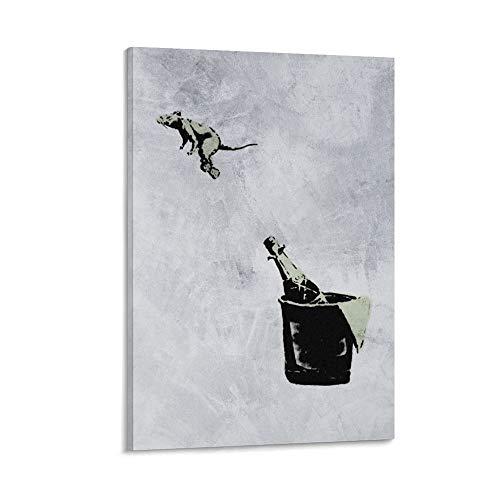 HZHI Banksy Street Art - Póster decorativo de vino, 40 x 60 cm