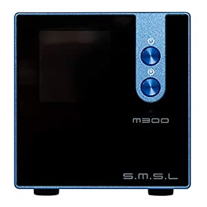 S.M.S.L M300 MKII HiFi Audio DAC, AKM4497EQ Apt-X USB DAC Decoder, Hi-Res Bluetooth 5.0 32bit/768kHz DSD512, Full Balanced Output, 6 Digital Filter Modes/3 Sound Color (Blue)