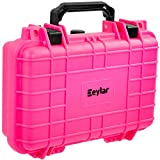 Eylar Tactical Hard Gun Case Water & Shock Proof with Foam TSA Approved 11.6 Inch 8.3 Inch 3.8 Inch (Pink)