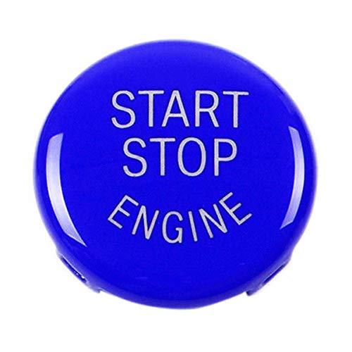 ECYC Auto Car Start Stop Motore Accessori Chiave Pulsante Motore Sostituisci Copertura Per BMW X5 E70 X6 E71 3Serie E90 E91, Blu