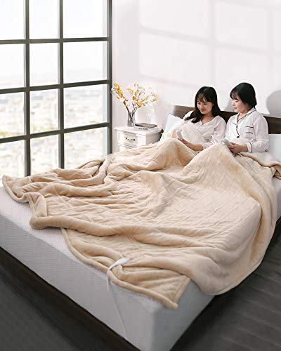 Electric Heated Blanket Queen Size 84' x 90', Heated Throw...