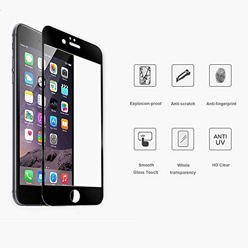 iPhone 6 / 6S 4,7 Coloured Zwart Screenprotector Tempered Glass