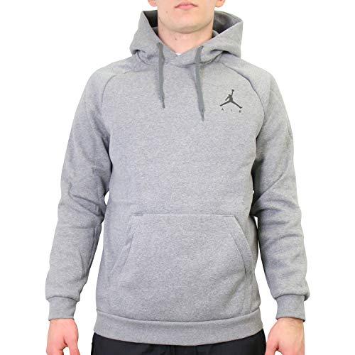 Nike Herren M J Jumpman Fleece PO Sweatshirt, Carbon Heather/Black, L