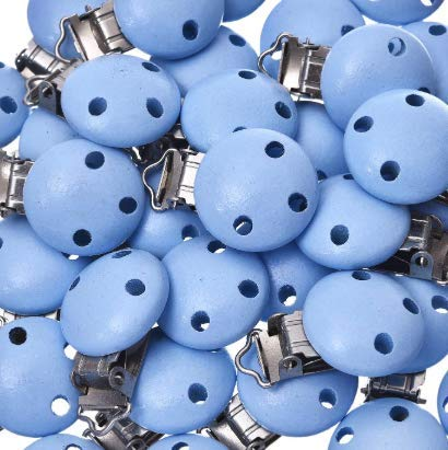 30 Schnullerclips hellblau Schnu...