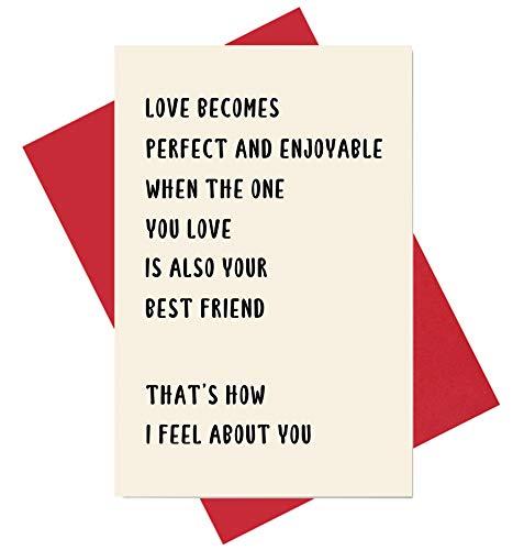 Perfect Love Card, Sweet Anniversary Card, Enjoyable Valentine
