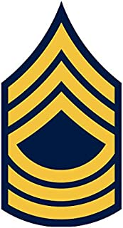 JS Artworks United States Army Master Sergeant Msg E-8 Rank Insignia Vinyl Sticker Decal