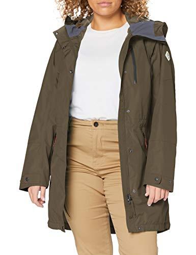 Schöffel Damen Parka Malmö1 wasserdichte Regenjacke für Frauen mit praktischen Taschen, modische und leichte Jacke für Frühling und Sommer, Sea Turtle, 40