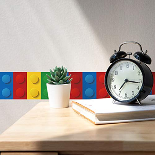 Wandaufkleber für Kinder, Motiv Lego, Wandsticker, Wandsticker, für Kinderzimmer, Aubergine-Grau