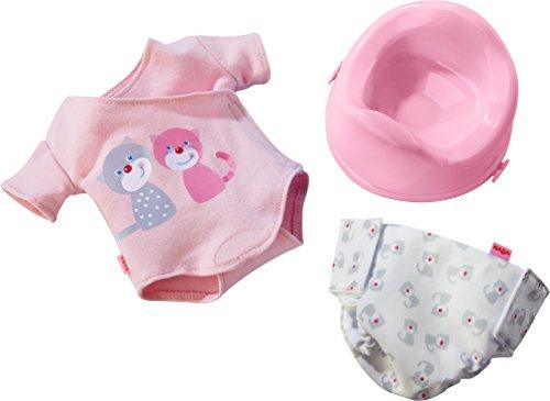 HABA 303725 - Pflege-Set Jule | Puppenzubehör für Babypuppe Jule | Set aus Body, Windel und Töpfchen | Spielzeug ab 1 Jahr