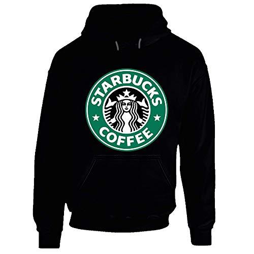 Starbuck Sweatshirt à capuche pour boissons chaudes - Noir - Medium