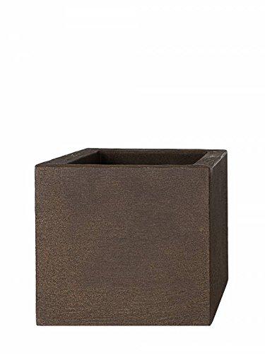 Pflanzwerk® Vaso da Fiori Cube Ruggine Marrone Plastica MIGLIOR Prezzo *Dimensione Selezionabile*Resistente al Gelo* *Protezione UV* *Europea di qualità*