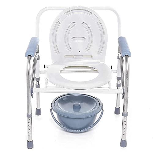 Asiento acolchado, sillas de ducha, baño plegable portátil del baño para ir al baño para orines cómodamente cómodos Silla de ducha de asiento sin deslizamiento para personas mayores con discapacitados