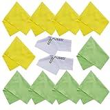 Chiffons de Nettoyage en Microfibre – 12 Paquet – Nettoyage Lunettes, Spectacles,...
