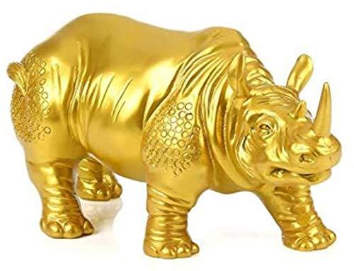 LULUDP-Decoración Decoraciones para la Resina de Dormitorio Talla artesanía para el Vino alcalzar Oficina de Animales Muebles para el hogar Sculpture Statue Collection-Rhino Manualidades