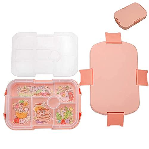 Caja de Almuerzo para Niños, Fiambrera a Prueba de Fugas, Caja de Plástico Bento, Caja Bento...