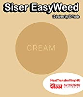 Siser EasyWeed アイロン接着 熱転写ビニール - 12インチ 50 Yards クリーム HTV4USEW12x50YD